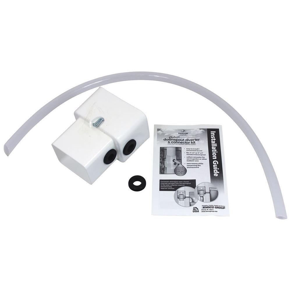Emsco Deluxe Downspout Diverter Kit Best Gutter Cleaning