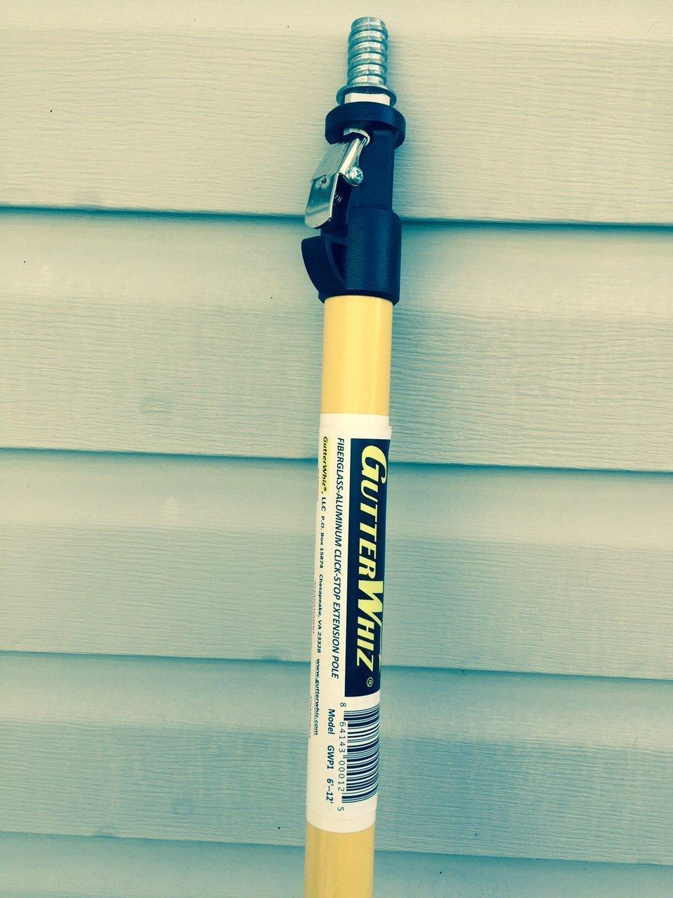 Gutterwhiz Extension Pole Best Gutter Cleaning Tool